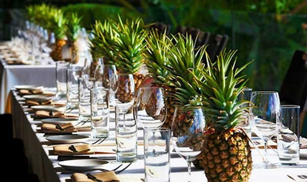 ornamentos de mesa