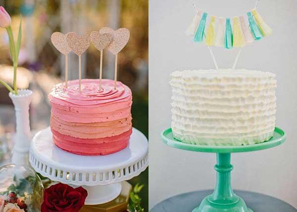 imagens de Bandeirinhas no bolo de casamento