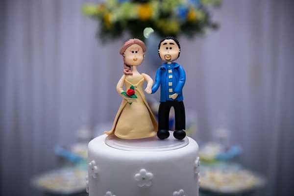 bolo de casamento bela e a fera