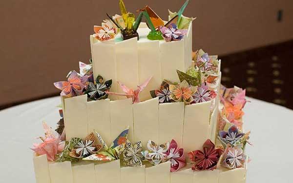 Imagens de origamis na decoração