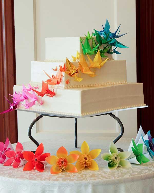 Fotos de origamis na decoração