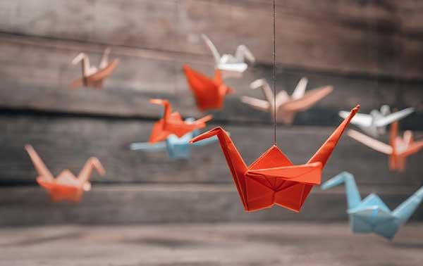origamis na decoração