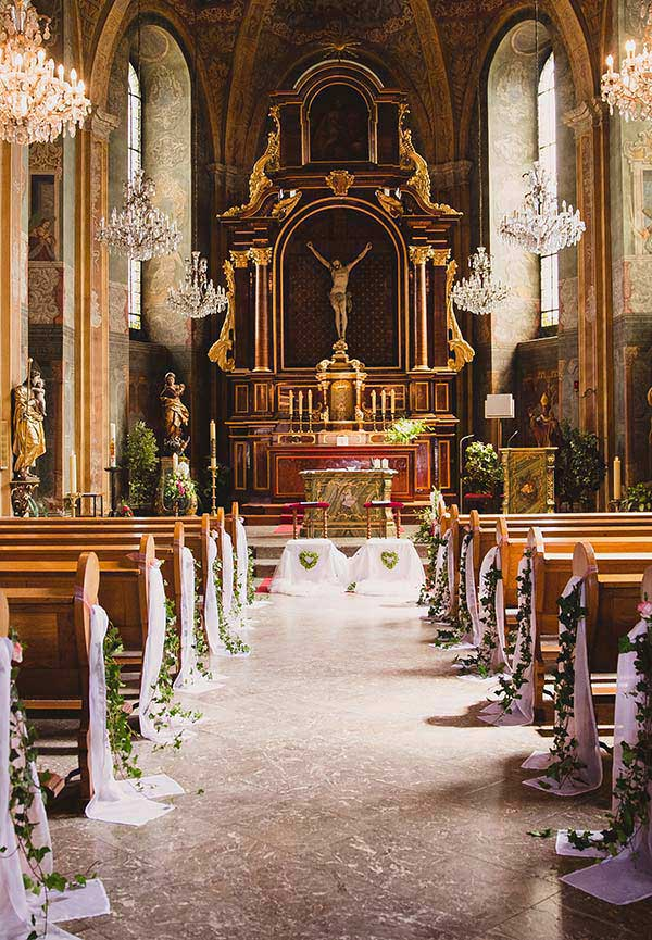 altar de casamento decorado
