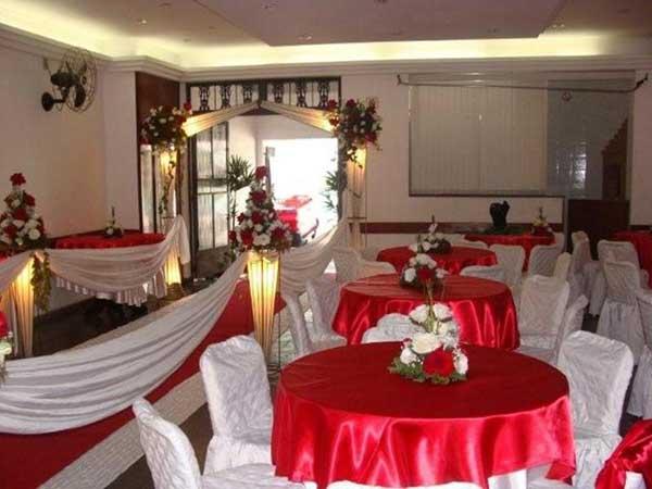 fotos de decoração com tnt