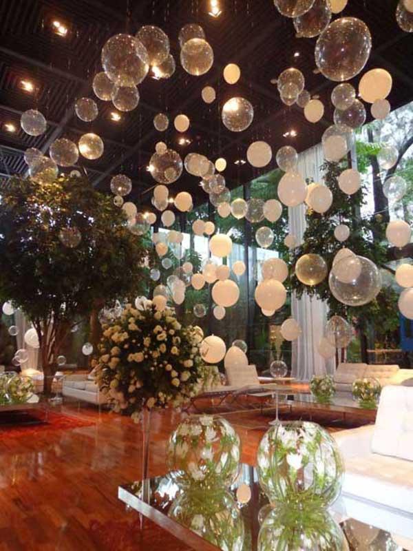 fotos de decoração com balões
